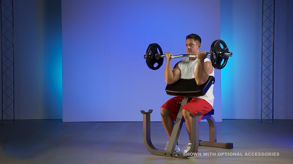 How To Do The Barbell Preacher Curl?